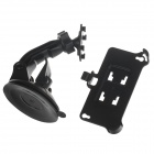H80 360 Degree Rotation Suction Cup Holder w/ Back Clip for Iphone 4 / 4S - Black