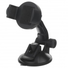 H80 360 Degree Rotation Suction Cup Holder w/ C46 Back Clip for Iphone 4 / 4S / 5 - Black