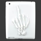 Skeleton Hand Style Protective Silicone Back Case for Ipad 4 - White