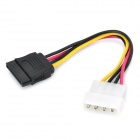 SATA 4pin to 15pin Power Cable - Multicolored (15cm)