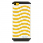 Hollow-Out Stair Style Protective Plastic Back Case for Iphone 5C - White + Black
