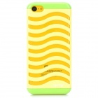 Hollow-Out Stair Style Protective Plastic Back Case for iPhone 5c - Yellow + Green