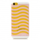 Hollow-Out Stair Style Protective Plastic Back Case for Iphone 5C - Pink + White