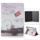 Protective Vintage London Style PU Leather Smart Case for Retina Ipad MINI  - Beige + Black