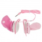 A35 Cute Plush Ornaments Headphones - Pink + White (3.5mm Plug / 120cm-Cable)