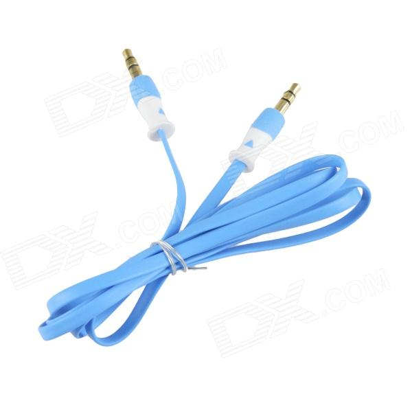 HH-029 Flat 3.5mm TRRS Male to Male Audio Connection Cable - Blue (102cm) fashion pu leather ultra slim smart cover case for amazon kindle paperwhite 1 2 3 6case tablet shell with sleep