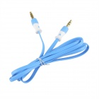 HH-029 Flat 3.5mm TRRS Male to Male Audio Connection Cable - Blue (102cm)