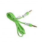 HH-029 Flat 3.5mm TRRS Male to Male Audio Connection Cable - Green (102cm)