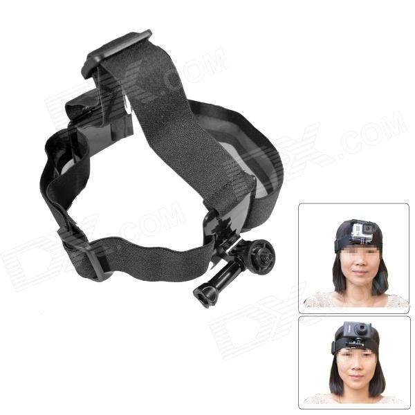 Fat Cat M-HM Comfortable Elastic Velcro Head Mount for Gopro Hero 4/ 3+ / 3 / 2 / 1 / SJ4000 three dimensional adjustable helmet side mount for gopro hero 3 3 2 1 black