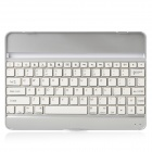 Rechargeable Wireless Bluetooth V3.0 82-Key Keyboard for Ipad AIR - White + Silver