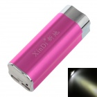 XINDI 809 10400mAh LCD 1'' Portable Power Bank w/ Flashlight - Deep red +Silver