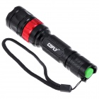 COFLY KX-055 700lm 5-Mode White Light Flashlight w/ CREE XM-L U2 - Black + Red (1 x 18650)