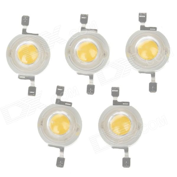 WT-GN1 1W 100LM 3200K Warm White Light LED Light Chip  - White (5 PCS / 3.2-3.4V / 350mA )