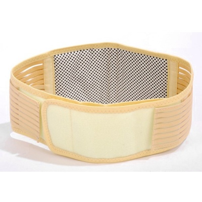 LOOF Self Heating Infrared Magnetic Therapy Waist Support Belt - Light Yellow