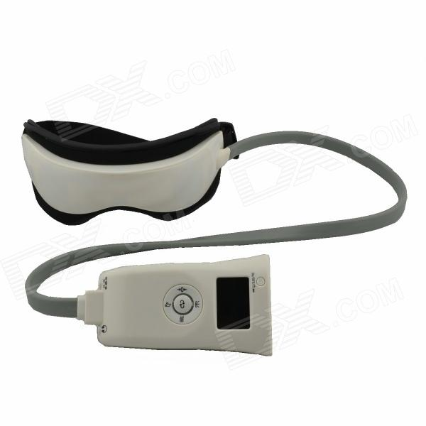 HQ365 Air Pressure Eyewear Massager - White + Black + Light Grey (4 x AA) - DXRelaxers &amp; Massagers<br>Brand N/A Model HQ365 Color White + Black + Light Grey Material ABS + nylon + electronic component Quantity 1 Functions Eye massaging fatigue relieving Power Supply 4 x AA batteries (not included) Power Plug 2-Flat-Pin Plug Features Use the power cable (output: 6V input: AC 100~240V) or 4 x 1.5V AA batteries (not included); With 8 different light music inside; Air pressure gives an overall massage to the eyes relieving muscle strain; Heat-for adding comfort and relaxation; Vibration-soothes and massages with multiple pulse settings. Massage time: 5 minutes 10 minutes and 15 minutes Packing List 1 x Massager 1 x Earphones (119cm-cable) 1 x AC power cable (output: 6V input: AC 100~240V 90cm-cable 2-flat-pin plug) 1 x English user manual<br>