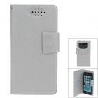 NEWTOP Fashion Suction Cup Mobile Phone PU Leather Case for Samsung i9300 / i9500 - Grey