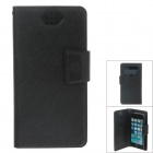 NEWTOP Fashion Suction Cup Mobile Phone PU Leather Case for Samsung i9300 / i9500 - Black