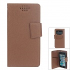 NEWTOP Fashion Suction Cup Mobile Phone PU Leather Case for Samsung i9300 / i9500 - Brown