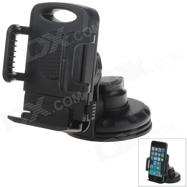 H70 Car Instrument Desk Silicone Holder Mount w/ C66 4~5.4' Back Clip for GPS / MP5 / Cell Phone