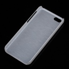 Newtop Brushed Style Protective Plastic Back Case for Iphone 5C - Silver