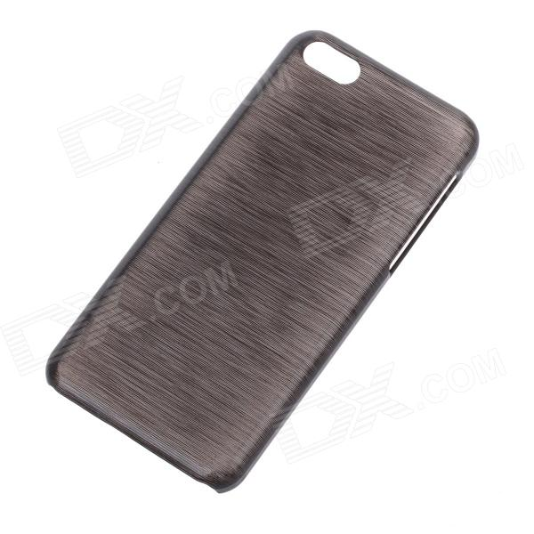 Newtop Brushed Style Protective Plastic Back Case for Iphone 5C - Black