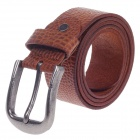 Fashionable Crocodile Texture Head Layer Cowhide Men's Waist Belt w/ Zinc Alloy Buckle - Brown