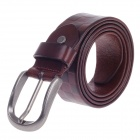 Fashionable Square Texture Head Layer Cowhide Men's Waist Belt w/ Zinc Alloy Buckle - Reddish Brown