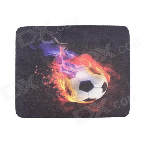 M-004 Football Fire Pattern EVA + Lycra Mouse Pad for Optical Mouse - Multicolored