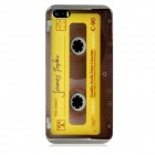 Retro Tape Pattern Protective Plastic Back Case for Iphone 5 / 5s - Yellow