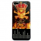 CAPF 5A077 3D Flash Light LED Crown and Skulls Color Changing Case Cover Skin for Iphone 5 / 5s