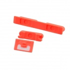 Replacement Volume Button + Mute Button + Switch Button for Iphone 5C - Fluorescent Red