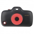 3D Camera Style Protective Plastic Back Case w/ 8 Filters for Iphone 5 - Black + Red