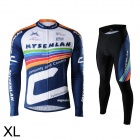 Mysenlan M02005 Men's Stylish Long Sleeve Jersey + Pants Set for Cycling - Multicolored (XL)