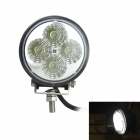 "Waterproof 3"" 12W 630lm 5000K 4-LED Working Light / Electric Light / Ship Light - Black (9~32V)"