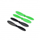 Hubsan H107-A36 Rotor BG for H107C R/C Quadcopter - Green + Black (4 PCS)