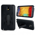 Robot Design Protective Silicone + Plastic Back Case Stand for Samsung Galaxy Note 3 N9000 - Black