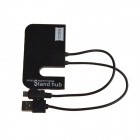 XWY010 3-Port USB 2.0 Hub / Smart Charging / Data Cable w/ Cell Phone Stand - Black