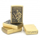 LiTian 01A Stylish Robot Soldier Pattern Zinc Alloy Kerosene Yellow Flame Lighters - Bronze (4 PCS)