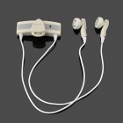 Roman S536 Fashionable Wireless Handsfree Bluetooth Headset - White + Silver
