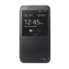 HOTGO KOMO Protective PU Leather Case Cover w/ Visual window for Samsung Galaxy Note 3 N9000 - Black