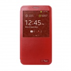HOTGO KOMO Protective PU Leather Case Cover w/ Visual Window for Samsung Galaxy Note 3 N9000 - Red