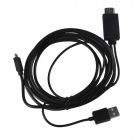 MHL Micro USB macho a macho HDMI HD Video Cable adaptador w / Micro USB 5-Pin a 11 Pin Cable - Negro