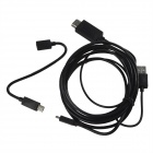 MHL Micro USB Male to HDMI Male HD Video Adapter Cable w/ Micro USB 5-Pin to 11-Pin Cable - Black