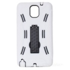 Robot Design Protective Silicone + Plastic Back Case Stand for Samsung Galaxy Note 3 N9000 - White