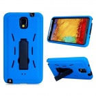 Robot Design Protective Silicone + Plastic Back Case Stand for Samsung Galaxy Note 3 N9000 - Blue