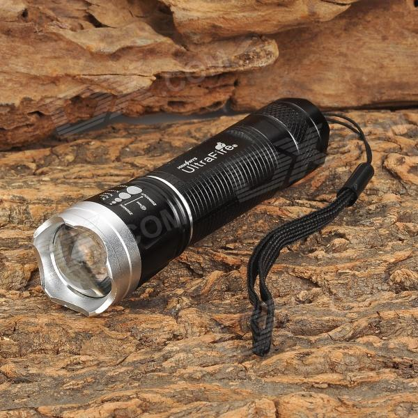 UltraFire LW-18 100lm 3-Mode White Zooming Flashlight - Black + Silver (1 x 14500 / AA)