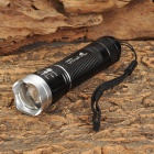 UltraFire LW-18 CREE XP-E Q5 100lm 3-Mode White Zooming Flashlight - Black + Silver (1 x 14500 / AA)
