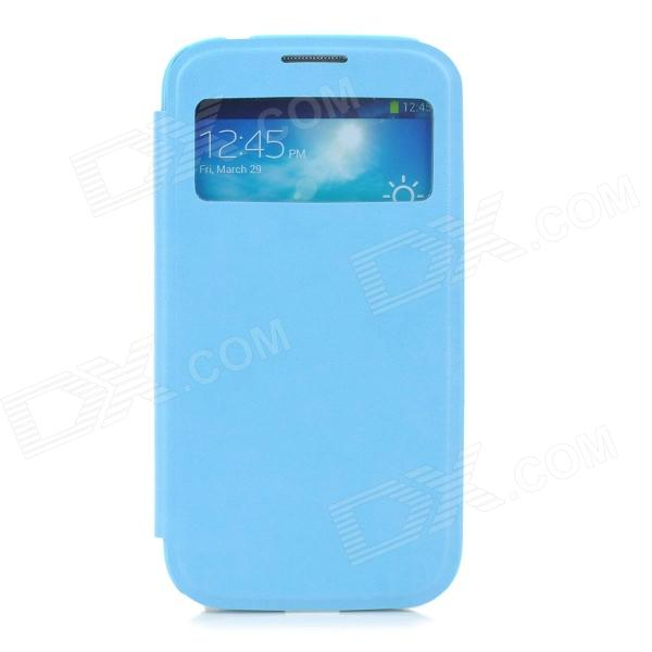 Protective PU Leather Case for Samsung Galaxy S4 - Blue