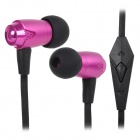 Fone intra-auricular IP810 OVLENG c/ microfone - Preto + Roxo