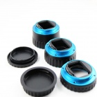 31mm / 21mm / 13mm AFAuto Focus Macro Extension Tube Set for Canon Camera - Black + Blue